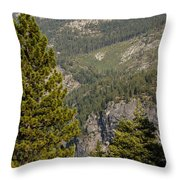 Yosemite Mountain High Throw Pillow