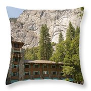 Yosemite National Park Lodging Throw Pillow