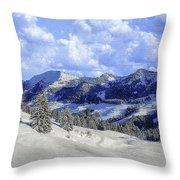 Yosemite National Park Winter Throw Pillow