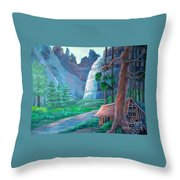 American Beauty Yosemite  Throw Pillow