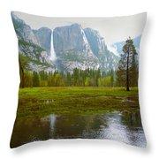 Yosemite Rain Throw Pillow