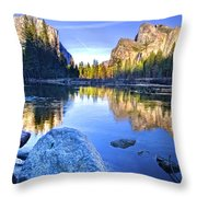 Yosemite Reflections Throw Pillow by Julianne Bradford