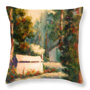 Yosemite Tent Cabins Throw Pillow