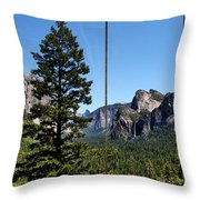 Yosemite Triptych Throw Pillow