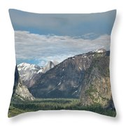 Yosemite Valley Afternoon Throw Pillow