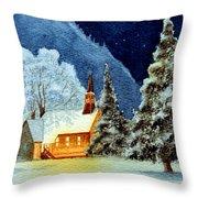 Yosemite Valley Chapel Throw Pillow