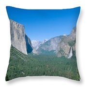 Yosemite Valley Throw Pillow by David Davis