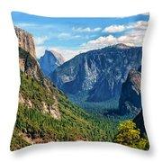 Yosemite Valley Overlook Throw Pillow