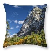 Yosemite Valley Rocks Throw Pillow