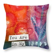 You Are In My Prayers- Watercolor Art Card Throw Pillow