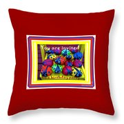 You Are Invited To A Birthday Party Throw Pillow
