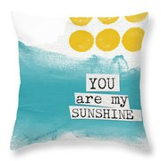 You Are My Sunshine- Abstract Mod Art Throw Pillow