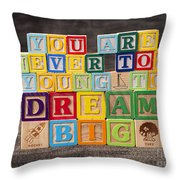 You Are Never Too Young To Dream Big Throw Pillow