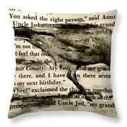 You Asked The Right Person Throw Pillow