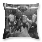 You Chicken  Throw Pillow