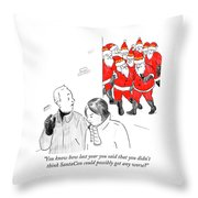 You Didn't Think Santacon Could Possibly Get Any Throw Pillow