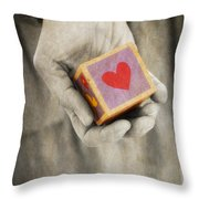 You Hold My Heart In Your Hand Throw Pillow