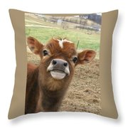You Looking At Me Throw Pillow