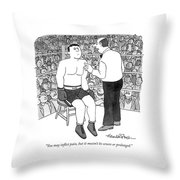 You May Inflict Pain Throw Pillow