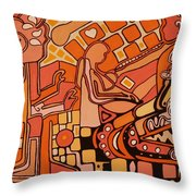 You Me And The Machine Throw Pillow