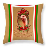 You Only Love Us For Our Breasts Christmas Card Throw Pillow