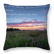 You Owe Me Throw Pillow