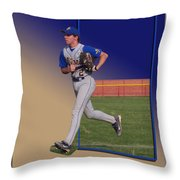 Young Baseball Athlete Throw Pillow