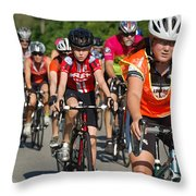 Young Bikers Throw Pillow