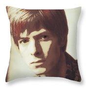Young Bowie Pop Art Throw Pillow