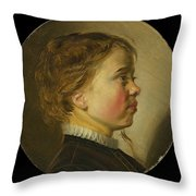 Young Boy In Profile  Throw Pillow