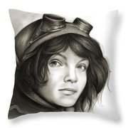 Young Catwoman Throw Pillow