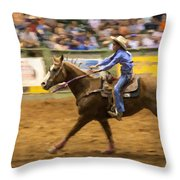 Young Cowgirl Throw Pillow