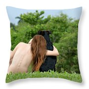 Young Earth Throw Pillow