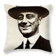 Young Franklin  Roosevelt Throw Pillow