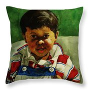 young Giovanni Throw Pillow