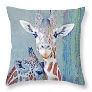 Young Giraffes Throw Pillow