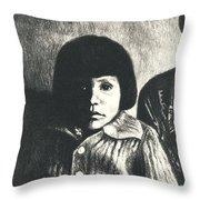 Young Girl Original Throw Pillow