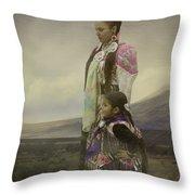 Young Girls Throw Pillow