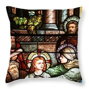 Young Jesus In The Temple Throw Pillow