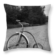 Young Kid Old Road  Throw Pillow