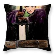 Young King Arthur Throw Pillow