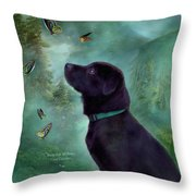 Young Lab And Buttys Throw Pillow