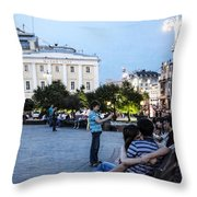 Young Lovers And Other Strangers - Moscow- Russia Throw Pillow