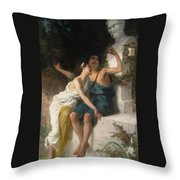 Young Lovers Mocking Pan Throw Pillow