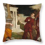 Young Man Between Vice And Virtue Throw Pillow