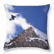 Young Man  Catches Huge Air While Throw Pillow