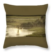 Young Man On The Nile Throw Pillow