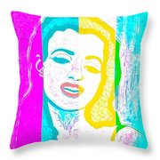 Young Marilyn Soft Pastels Impression Throw Pillow
