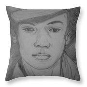 Young Michael Jackson Throw Pillow