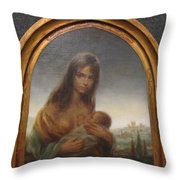 Young Mother Of Urbino Throw Pillow